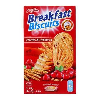Breakfast Biscuits Cereals & Cranberry 160 g